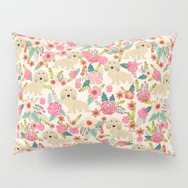 Dachshund longhaired doxie floral dog breed pet gift for dachsie lovers must haves Pillow Sham
