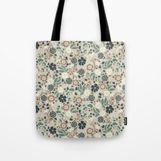 Flourishing Florals (Light-Green) Tote Bag