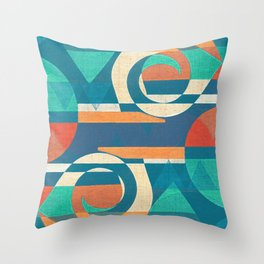 Mountains and Waves Throw Pillow