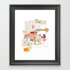 Flea Market Framed Art Print
