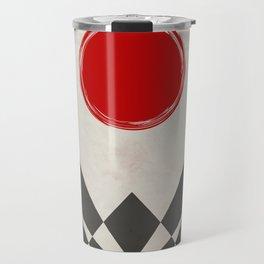 Grunge red sun Travel Mug