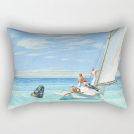Ground Swell OIl Painting by Edward Hopper Rectangular Pillow