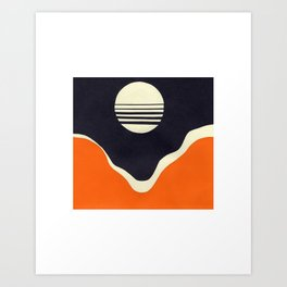 Moonrise Over Valley Art Print