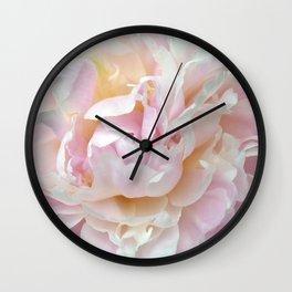 Pink Petal Flower Power Wall Clock