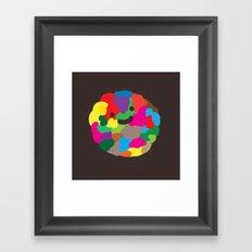 happy colour ball Framed Art Print