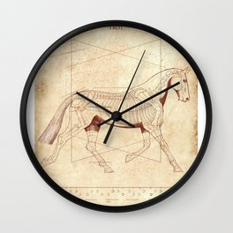 Da Vinci Horse: The Trot Revealed Wall Clock