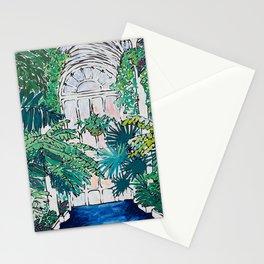 Kew Gardens Sunrise Walkway Greenhouse Jungle Painting London Stationery Cards