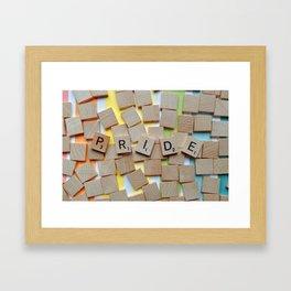 LGBT Pride Tiles Framed Art Print