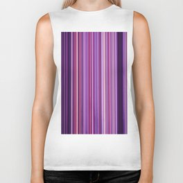 Pink Purple Stripes Biker Tank