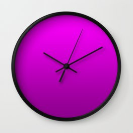 Modern Bright to Dark Magenta Ombre Wall Clock