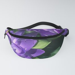 Purple Lily Pads in Pond Fanny Pack