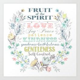Fruit of the Spirit (bright pastels) Art Print