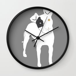 Pittie Pride Wall Clock