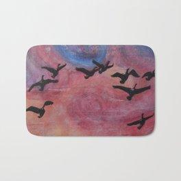 Freedom Flyers Acrylic Painting Bath Mat