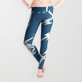 Blue Barb Leggings
