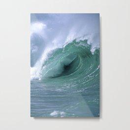 "Ocean Waves ""Stormproof Films"" Cigna Logo Metal Print"