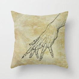 The Sixth Finger of the Writer Throw Pillow