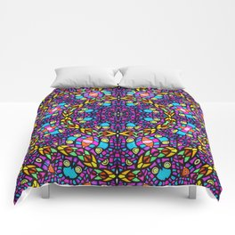 Arabesque kaleidoscopic Mosaic G519 Comforters