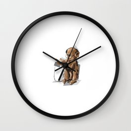 Baby Monkey Text'n Wall Clock