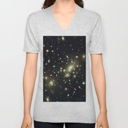Distant galaxies, Abell 2218. Unisex V-Neck