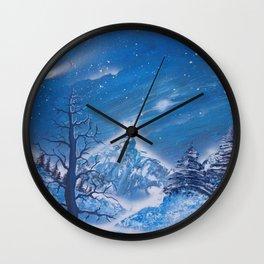 Snowy Wonderland Wall Clock