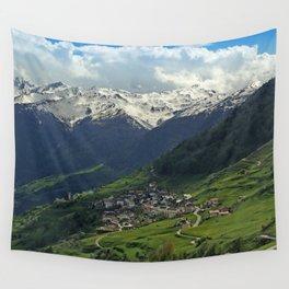 Val di Mazia in Alps, Italy Wall Tapestry