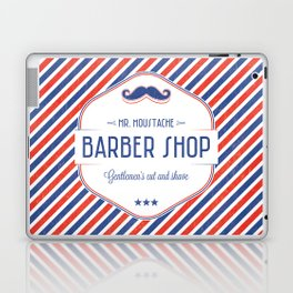 Mr. Moustache Barber Shop Laptop & iPad Skin