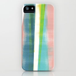 Colorful Geometric Abstract Minimalist Monotype 2 iPhone Case