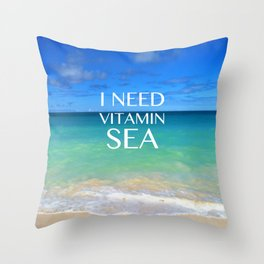 VITAMIN SEA Throw Pillow