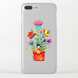Hello sprig Clear iPhone Case