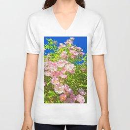 Sun Soaked Roses Unisex V-Neck