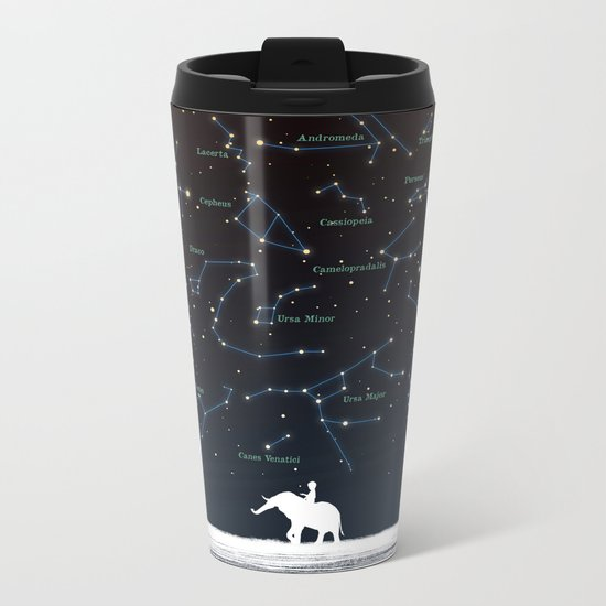 Falling star constellation Metal Travel Mug