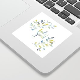 Feels good floral in green and blue Sticker