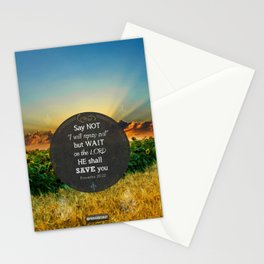 Proverbs 20:22 Wait on the Lord Stationery Cards