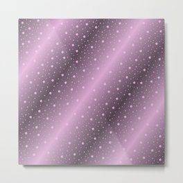 purple,Many pretty shamrocks in a design metal shiny festively elegant, for anyone from the family Metal Print