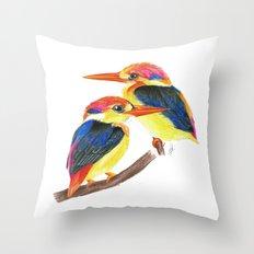 Kingfisher IV Throw Pillow