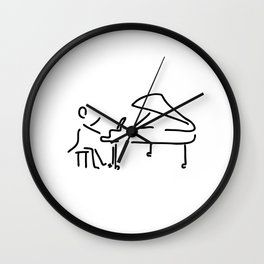 pianist musician plays the piano Wall Clock