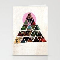 pyramid Stationery Cards featuring PYRAMID by dara dean