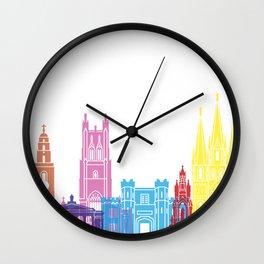Cork skyline pop Wall Clock
