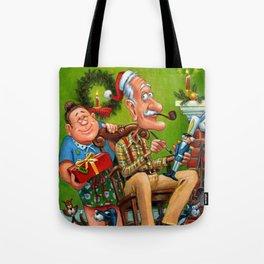 Mama and Papa Brickel on Christmas Eve Tote Bag