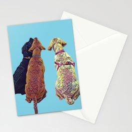 Three Amigos I in aqua Stationery Cards