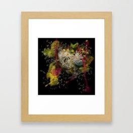 Beautiful white gum blossom abstract Framed Art Print