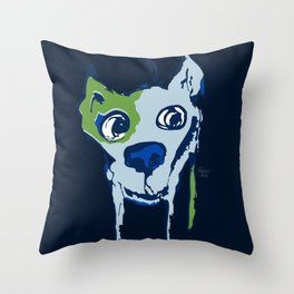 Anton - blue and lime Throw Pillow