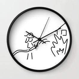 firefighter fire service Wall Clock