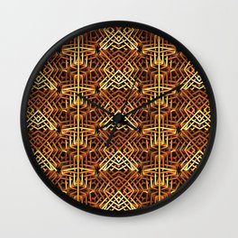 Yes, Another Gold Pattern Wall Clock