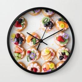 pretty desserts Wall Clock