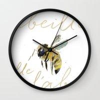 craftberrybush Wall Clocks featuring l'abeille  by craftberrybush