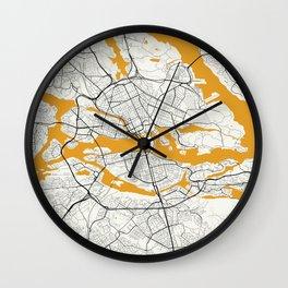 Stockholm map Wall Clock