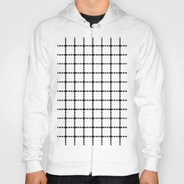 Dotted Grid Black on White Hoody
