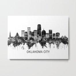 Oklahoma City Oklahoma Skyline BW Metal Print